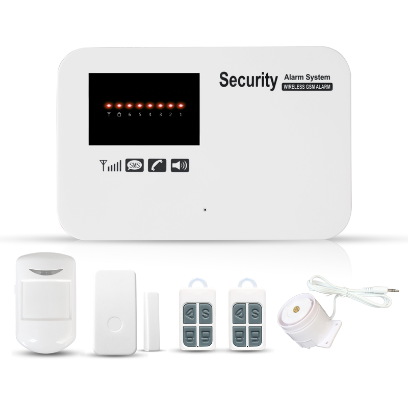 SUNLUXY Wireless GSM Alarm System Dual Antenna GSM Home Alarm Systems with PIR Detector Russian English Voice Security GSM Alarm цена