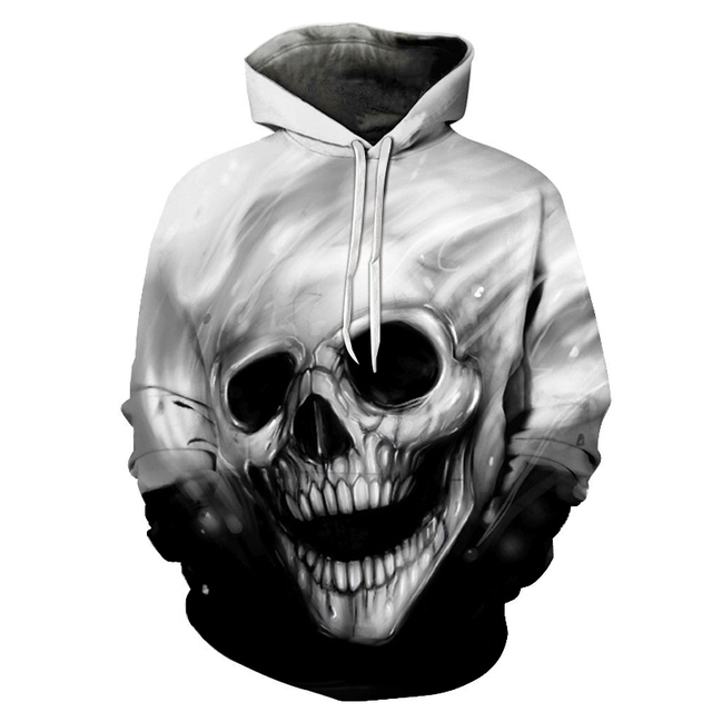 Skull Printed Hoodies 3D Men Women Sweatshirts Novelty Streetwear