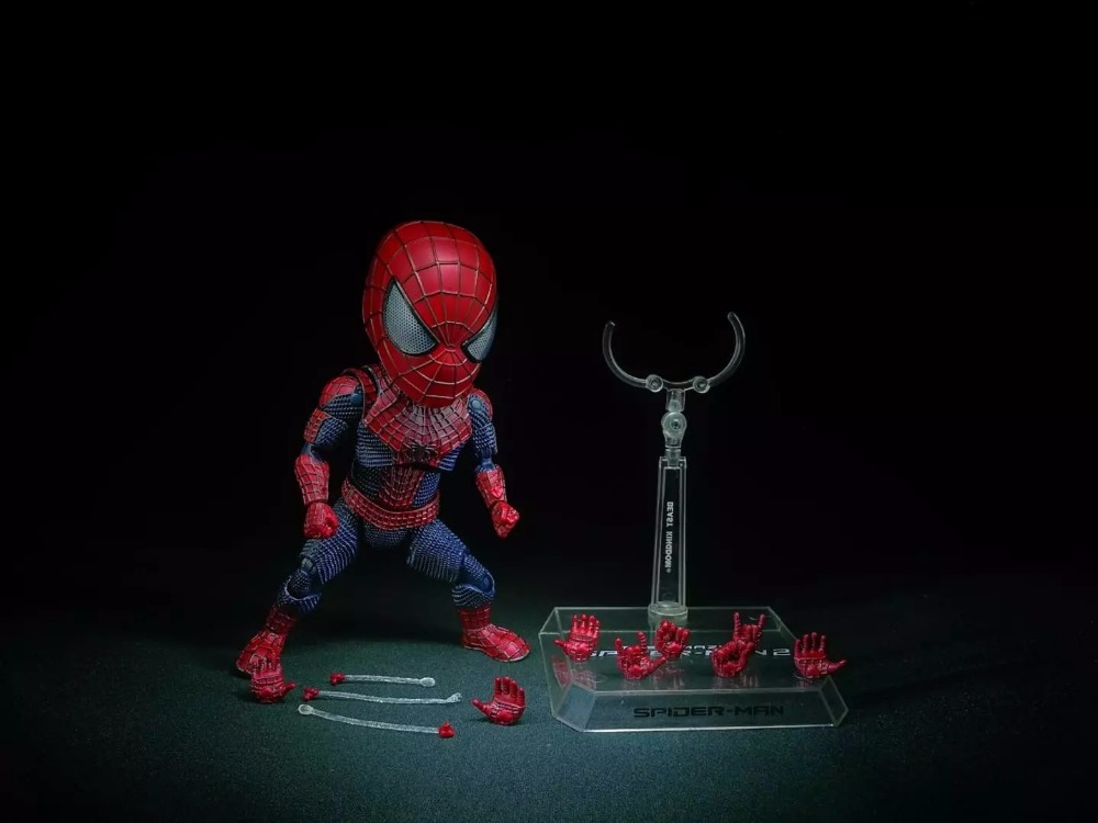 Spider Man Action Figure Egg Attack Action 170mm Anime Spider-Man Collectible Model Doll Toy Spider Man 2 пластилин spider man 10 цветов