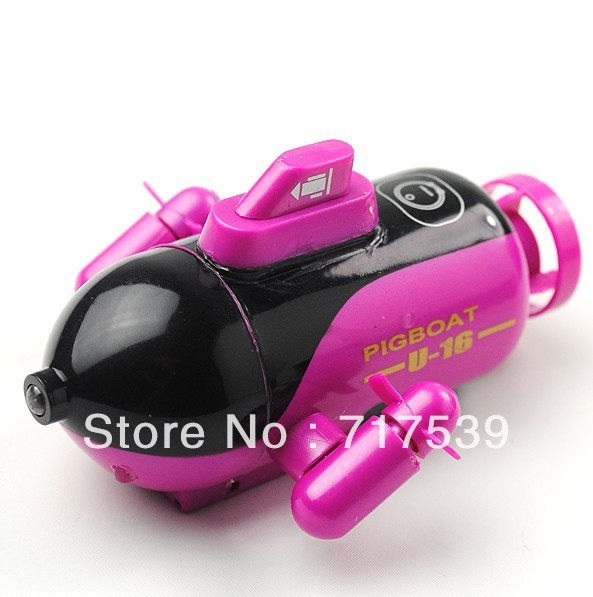 free shipping NEW Mini Radio Control Simulated Super Submarine (49MHz)RC toy, RC boat new design red color