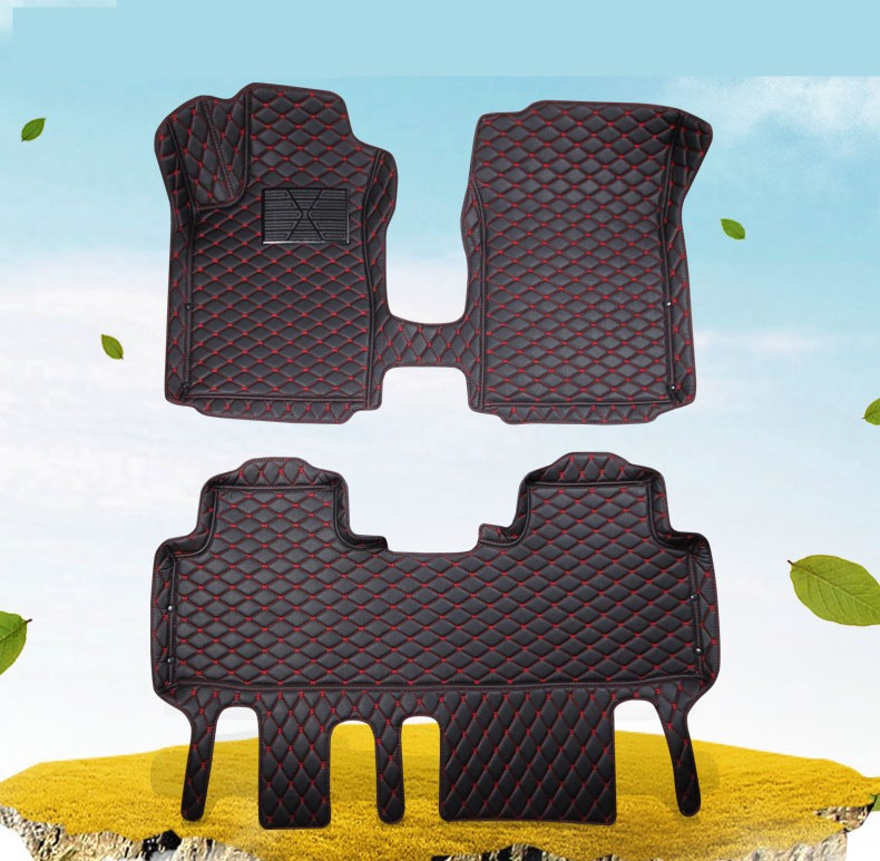 For Hyundai Grand SantaFe 2017.2018 Floor Mats Auto Foot Carpets Car Step Mats High Quality Brand New Embroidery Leather Mats auto floor mats for honda cr v crv 2007 2011 foot carpets step mat high quality brand new embroidery leather mats
