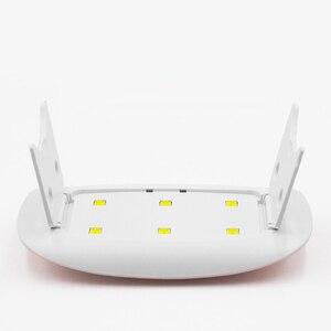 Image 5 - ROHWXY 6 واط مسمار مجفف LED UV مصباح المصغّر usb جل الورنيش علاج آلة مسمار أدوات الرسم 6 المصابيح لمبة مسمار للمنزل