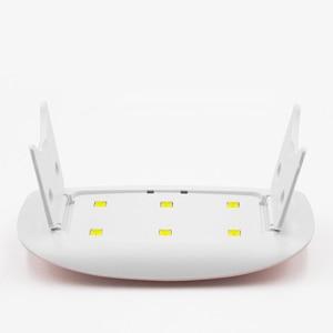 Image 5 - ROHWXY 6W Nagel Trockner LED UV Lampe Micro USB Gel Lack Aushärtung Maschine Nail art Werkzeuge 6 LEDS Nagel lampen Für Home