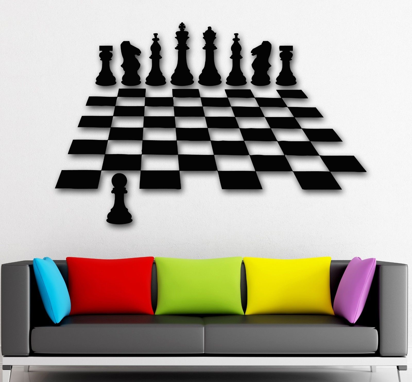 2016 new wall stickers vinyl decal chess intelligent game great home decor free shipping in wall - Wall decor stickers online shopping ...