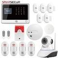 Smarsecur GSM GPRS WIFI APP sistema de Alarme de Segurança Sem Fio Em Casa Controle Remoto