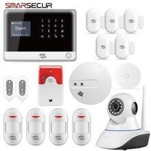 Smarsecur bezprzewodowe bezpieczeństwo w domu WIFI GSM GPRS system alarmowy pilot aplikacji