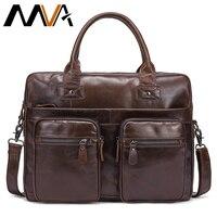 MVA Бизнес Для мужчин Портфели компьютер сумка Для мужчин сумки на плечо из натуральной кожи Docu Для мужчин t сумки для Для мужчин ноутбука Сум