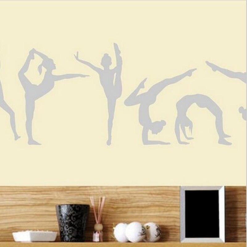 Dança meninas ginástica adesivo de parede esporte