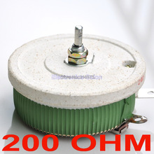 (10 шт./лот) 200 Вт 200 Ом высокомощный проволочный потенциометр, реостат, переменный резистор, 200 Вт.