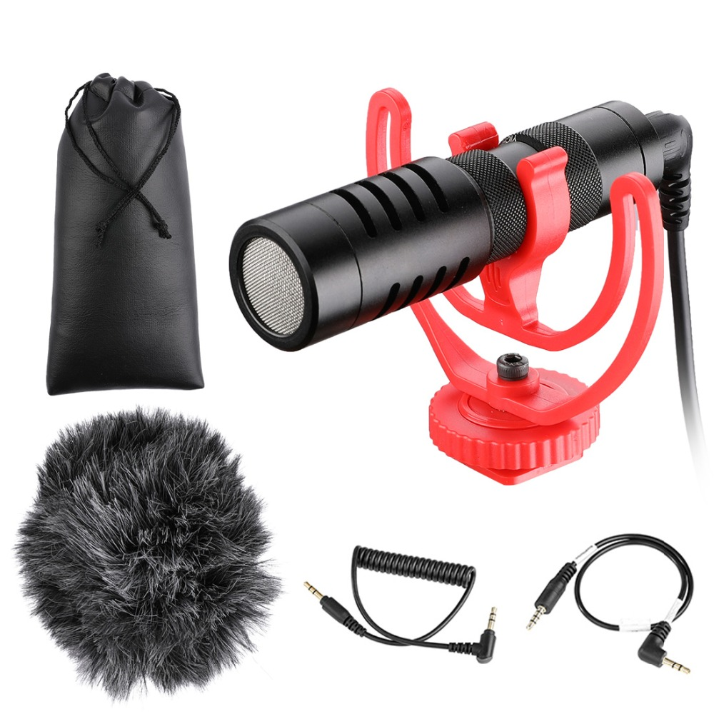 YC-VM100-Video-Record-Microphone-Compact-Video-Micro-On-Camera-Recording-Mic-for-iPhone-X-8