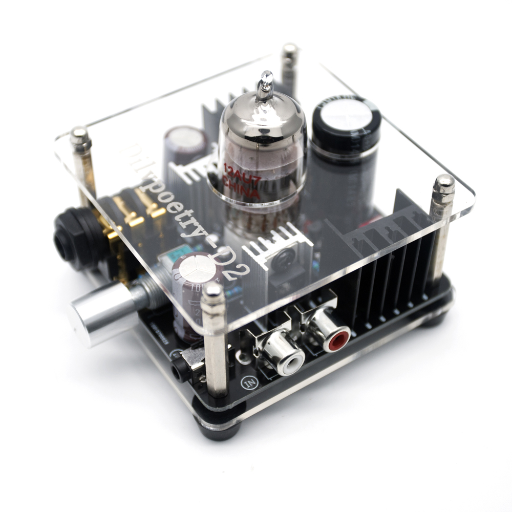 Dilvpoetry D2 Class A Multi-Hybrid Headphone Amplifier Tube Amp with Stereo RCA/ 3.5mm/ 6.35mm new topping tp60 tp 60 ta2022 80w x 2 class t amp tripath mini hifi digital stereo power amplifier 2 analog rca inputs 220v 110v