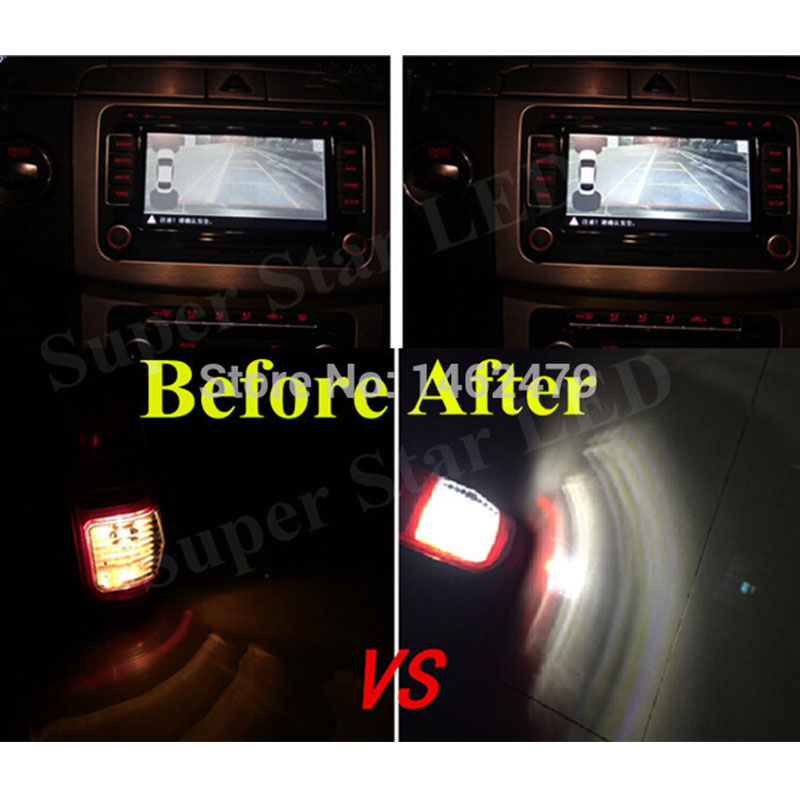 Par 1156 P21W beli Q5 čipi Canbus brez napake Avtomobilska LED - Avtomobilske luči - Fotografija 5