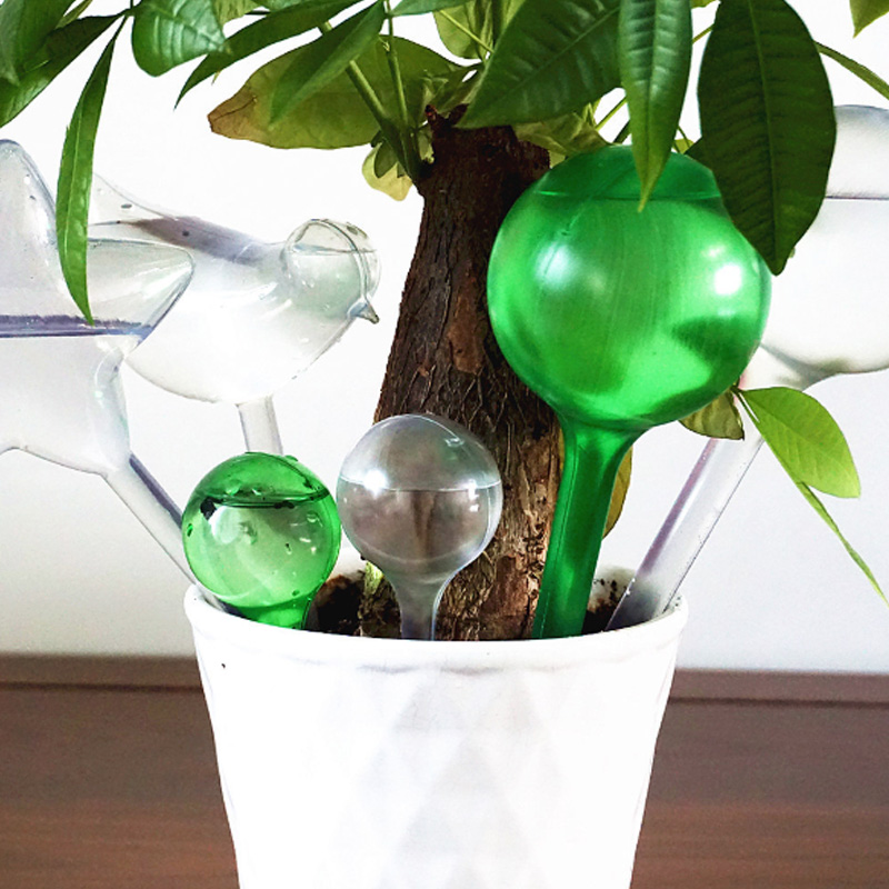 Practical PVC Travel House Plant Bulb Automatic Self Watering Device Shape Water Globes Garden Water Houseplant Plant Pot Bulb