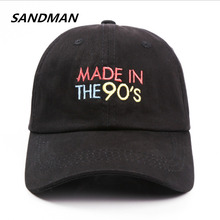 SANDMAN Letter MADE IN THE 90'S Snapback Cap Cotton