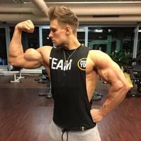 2018 Musculation Vest Bodybuilding Clothing And Fitness Men Undershirt Solid Tank Tops Blank Golds Men Undershirt