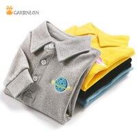 Jungen Polo Shirts Umlegekragen Dicken Langarm Solide Baumwolle Kinder kinder Jungen Bodenbildung Unterwäsche Hemd Winter Frühling