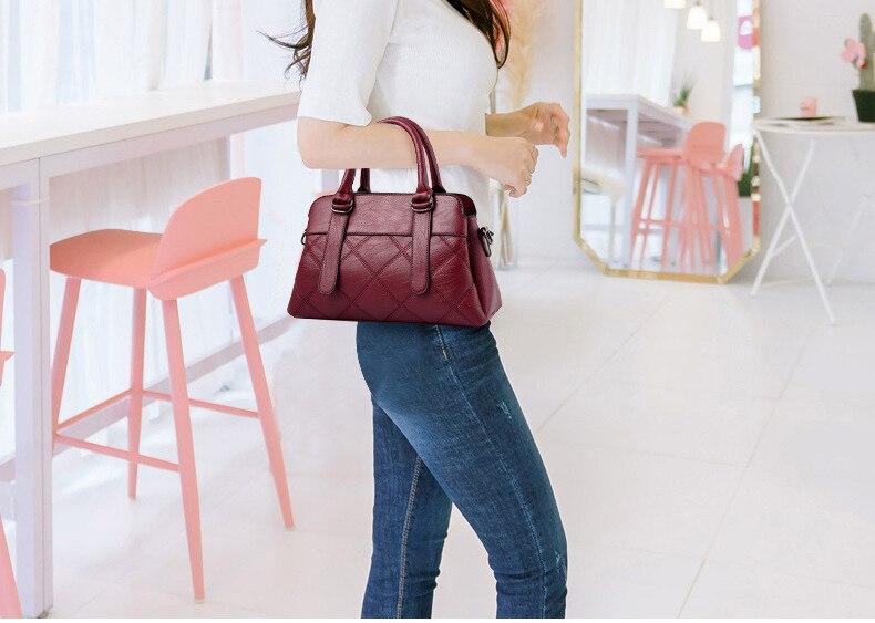 Women Bag 2019 New Women Messenger Bags Fashion Pu Leather Shoulder Bags Handbags Famous Brands, Big Crossbody Bags For Women 19