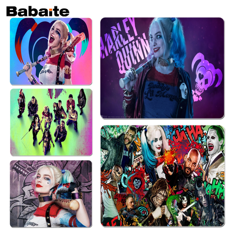 Babaite Suicide Squad mouse pad gamer play mats Size for 18x22 and 25x29cm Gaming Mousep ...