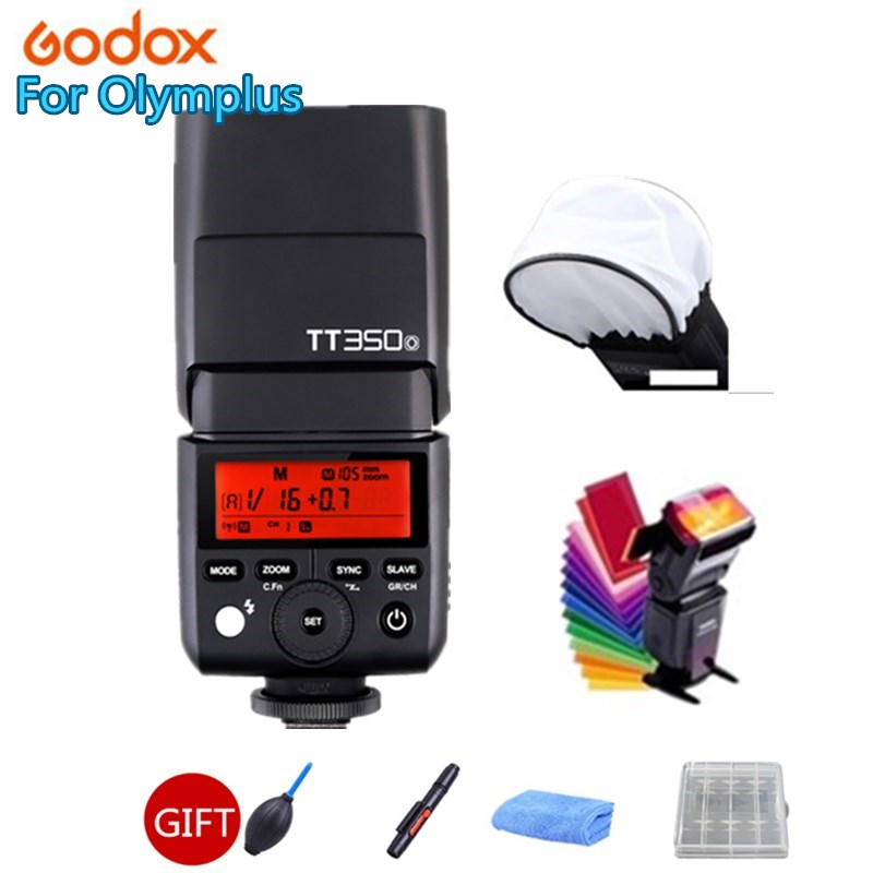 Godox Mini Speedlite TT350S Camera Flash TTL HSS GN36+X1T-S Transmitter for Sony A9 A7RII Mirrorless DSLR Camera godox v860iic v860iin v860iis x1t c x1t n x1t s hss 1 8000s gn60 ttl flash speedlite 2 4g transmission godox softbox filter