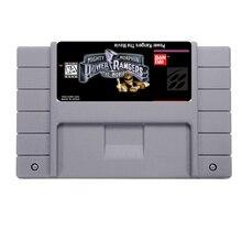 Venda quente Power Rangers O Filme Jogo De Cartas Para 46 Pin de 16 Bits Jogador Do Jogo NTSC