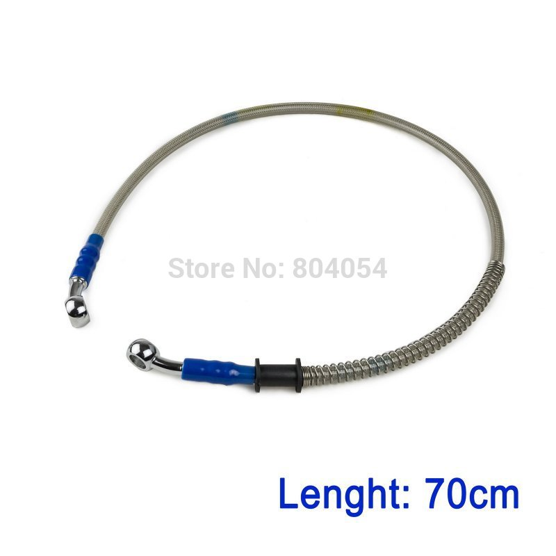 70cm/28 Universal Brake Oil Hose Pipeline Banjo Fitting Stainless Steel Swivel ...
