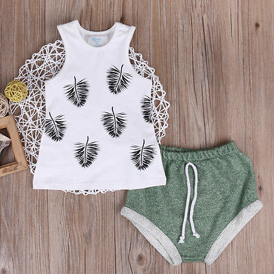 2pcsKids-Newborn-baby-Girls-Hawaii-Beach-Style-Tank-Top-T-shirt-Shorts-Infant-Clothes-2pcs-Outfits-Sets-1