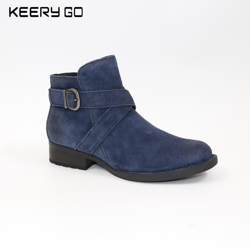 17 years of autumn and winter, new high-end leather comfortable, handsome, female short boots years