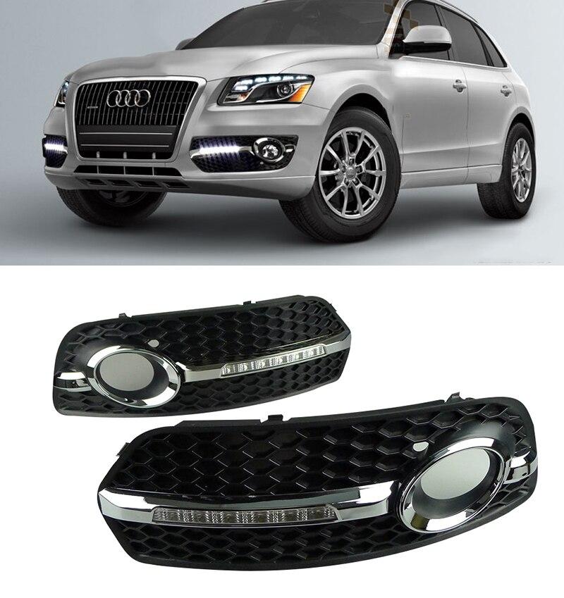 2PCS Car KIT LED DRL Daytime Running Light For Audi Q5