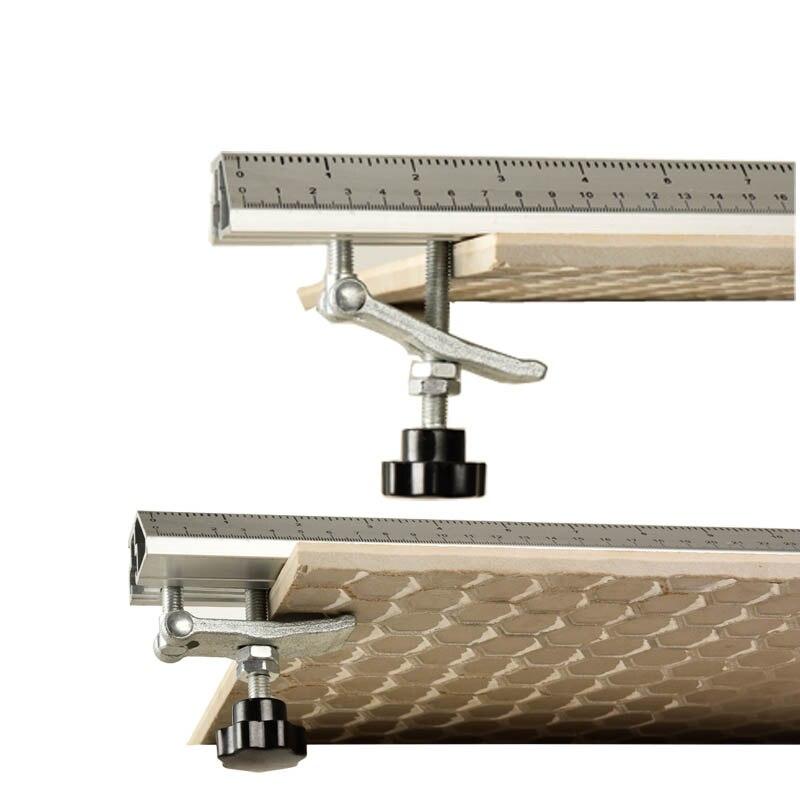 Scie à bois scie circulaire électrique Machine de découpe Guide pied règle Guide trois-en-un 45 degrés chanfrein luminaire - 2