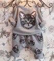 Roupas de primavera outono impressão bordado + Harem calças crianças 100 - 140 2-7Age crianças