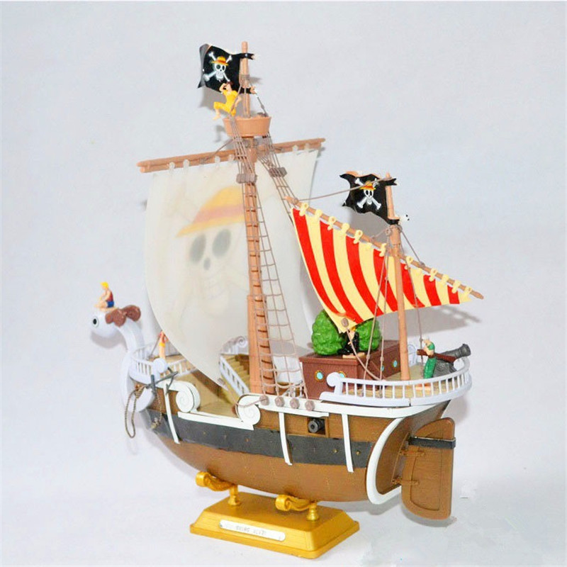Japan Anime PVC Garage Kits ONEPIECE Thousand Sunny and GoingMerry Action Figure Model Toy 28 CM With BOX Collection Models