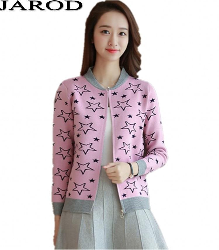 Knitted Sweaters Female 2017 Autumn font b Women s b font Loose Zipper font b Jackets