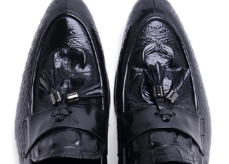 Обувь с очень высоким подъемом 12 см; Мужская обувь из спилка, визуально увеличивающая рост; повседневная обувь в деловом стиле; мужские свад... - 5