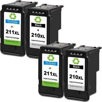 Remanufactured Ink Cartridge Replacement PG 210XL & CL 211XL for Canon PIXMA IP2700, PIXMA IP2702, PIXMA MP230, PIXMA MP240, фото