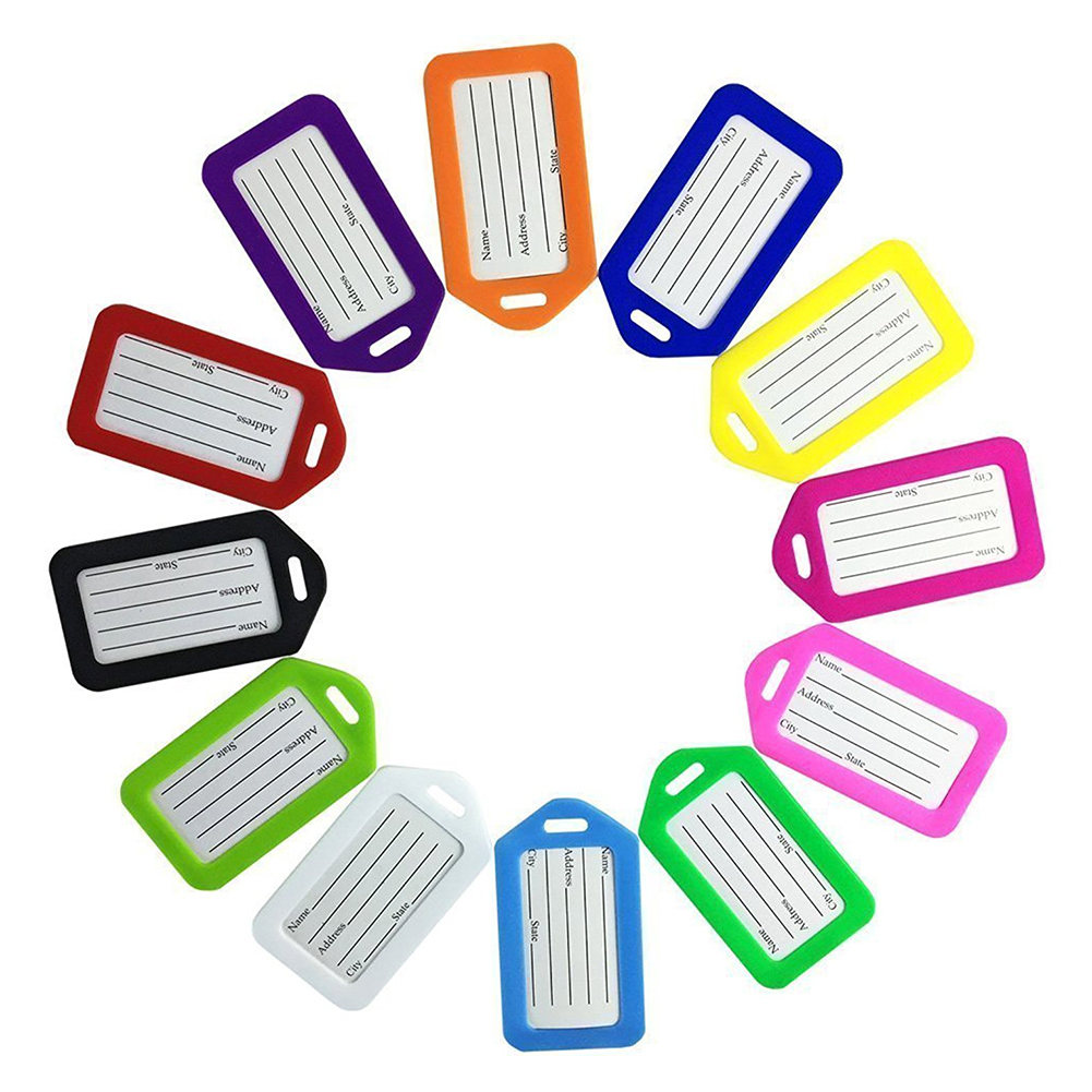 VSEN Hot Cruise Luggage Tag Holders, Premium tag Baggage Document Holders,Pack of 12