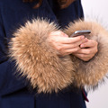 2016 new winter women's coat cuff fashion fur accessories Bracelet Wristband real raccoon fur cuff