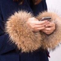 2016 New Winter Women S Coat Cuff Fashion Fur Accessories Bracelet Wristband Real Raccoon Fur Cuff