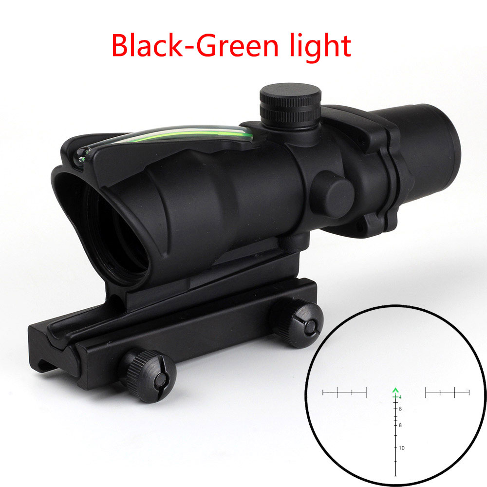 Caça riflescope chevron acog 4x32 real fibra