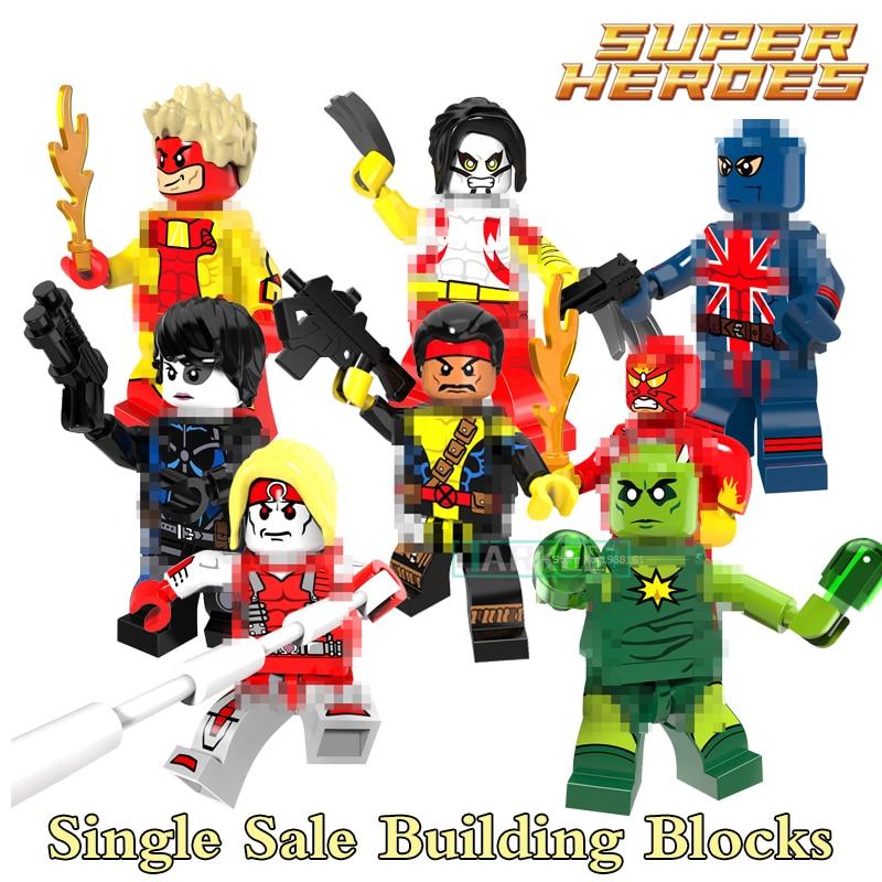 Building Blocks Forge Pyro Domino Radioactive Man Super Heroes X-Men Star Wars Bricks Dolls Kids DIY Toys Hobbies PG8082 Figures
