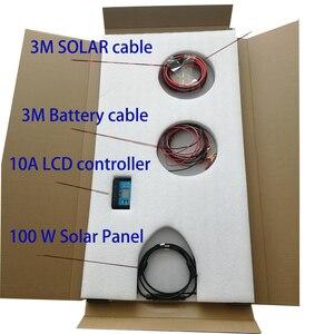 Image 5 - 100W Zonnestelsel Fotovoltaïsche Kit Systeem Power Station Voor 12V Zonnepaneel Batterijen Charger Hele Solar Kit Set met Kabel