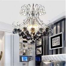 Crystal Chandelier Pendants Living-Room-Lamp Lustres Luxury