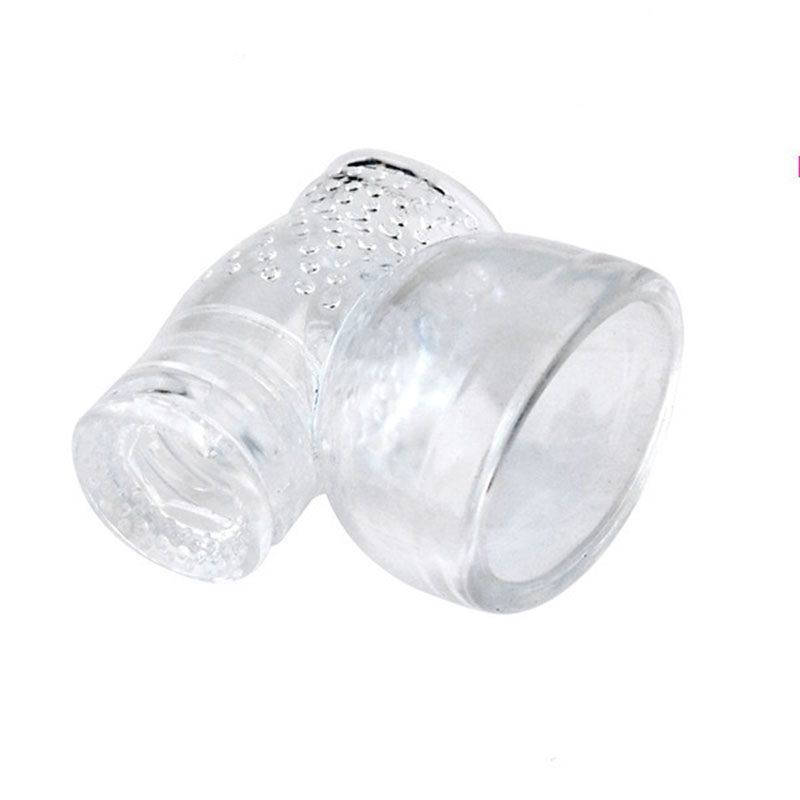 Transparent Big AV Wand Headgear Vibrators Caps For Male Sex Toys Magic Wand Head Accessories Body Massage Adult Sex Products
