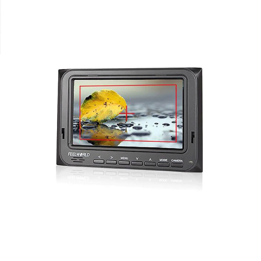 FWT-5D 5 Inch On-Camera Field Monitor with HDMI AV Input Peaking Focus Check Field Portable Small LCD Monitor forDSLR