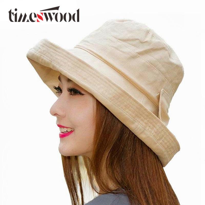 Gratë Bowknot Sun Hat, Dizajn Hats Peshkatar Beach Beach, Anti-UV - Aksesorë veshjesh