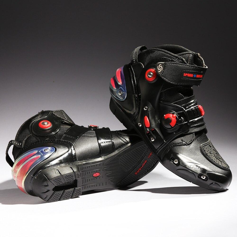 цена на Motorcycle Boots Ankle Shoes Motocross Botas Moto Motoqueiro Motocicleta A90115 Botte Botas Para Moto Men Shoes