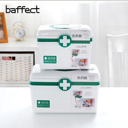 Multi-layers Family Medicine Plastic Medical Box Bin Medical First Aid Storage Box Handle Portable Storage Medicine Gathering