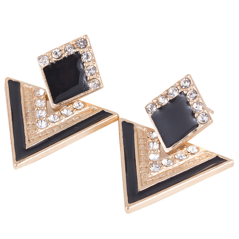 Women Earring Chromophous Summer Triangle Style For Women Vintage Brand Crystal Earrings Fashion