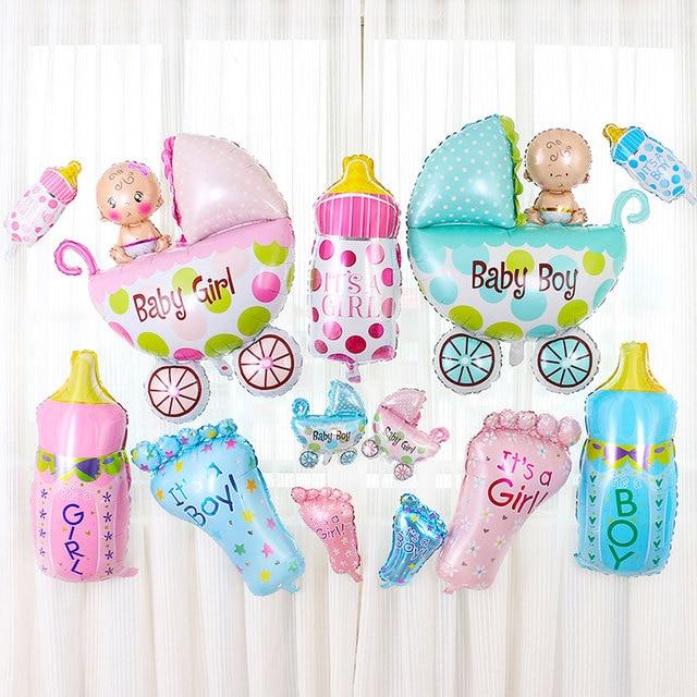Happy Birthday 5Pcs Set Boy Girl Baby Shower Foil Giant Christening Super Shape Balloons Party