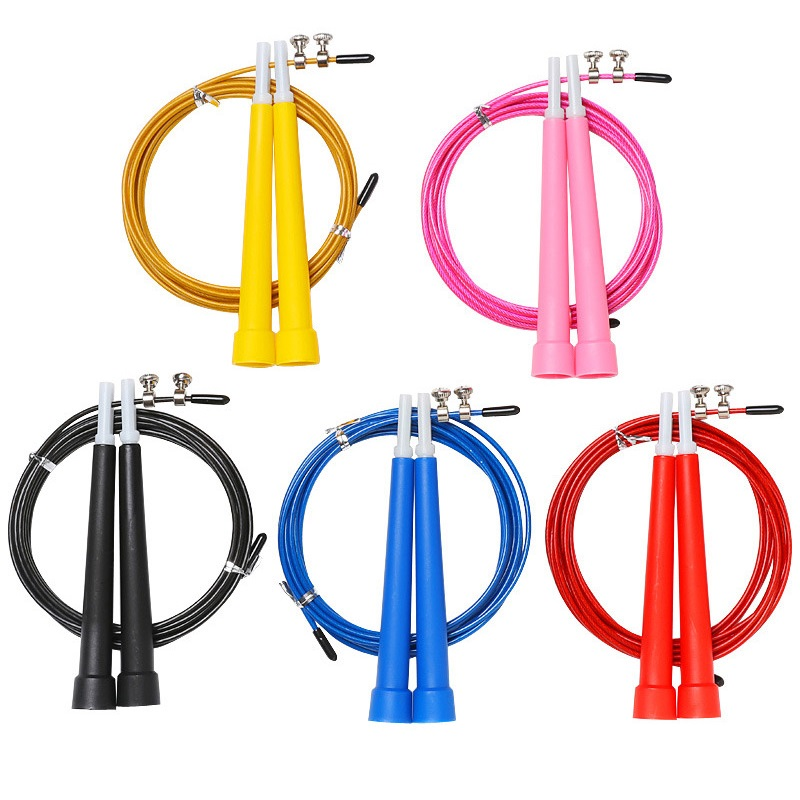 3m Steel Wire Gym Sport Training Fitness Accessories Crossfit Exercise Fast Speed Jump Rope Skipping Calories Women Men