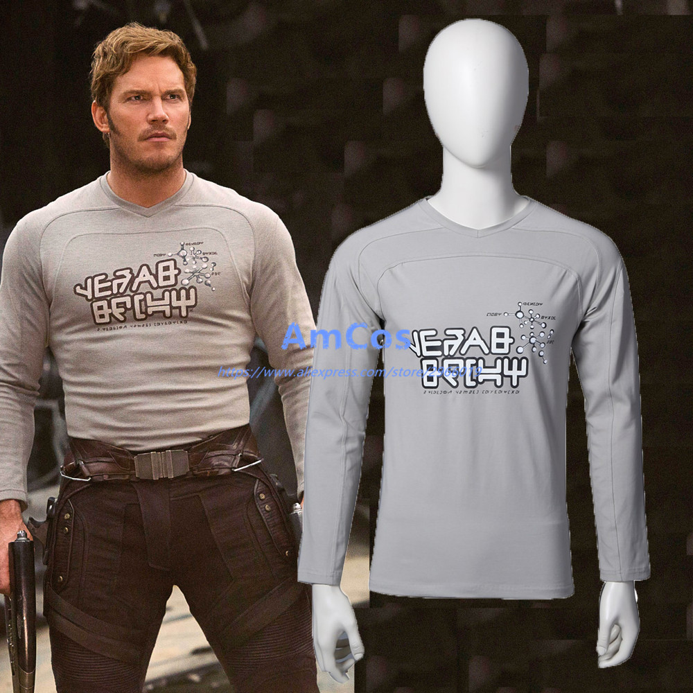 2017 Moive Guardians of the Galaxy 2 Peter Jason Quill Star Lord Cosplay Long Sleeve T-shirt Halloween Costumes01